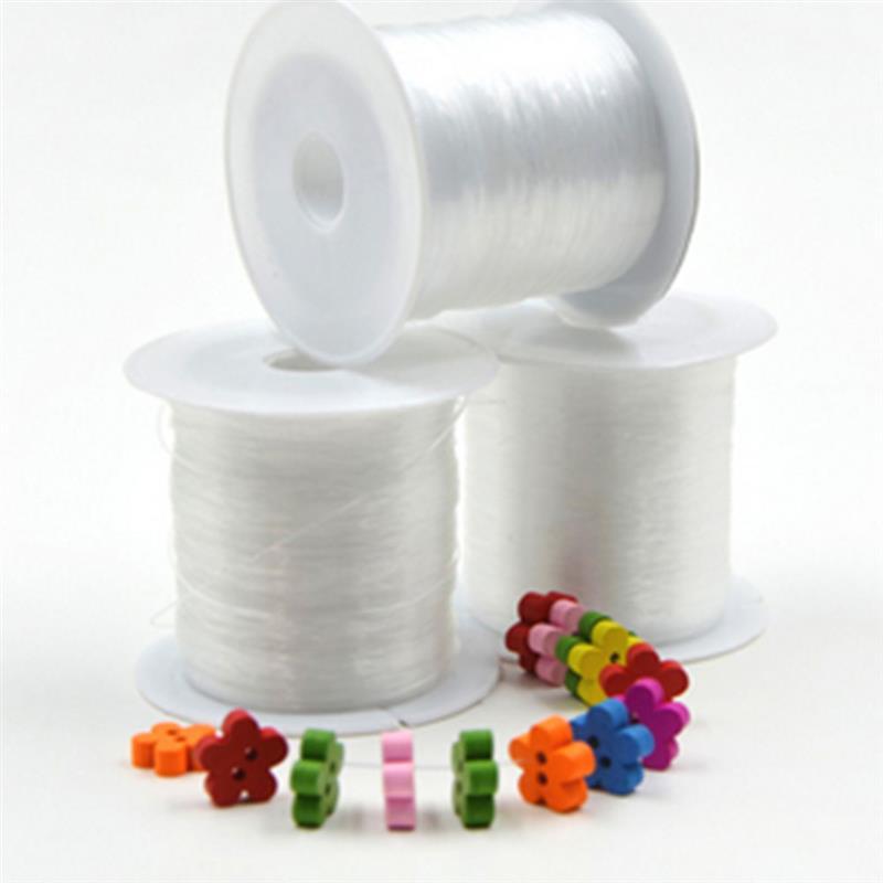1 rolo de linha de pesca de cristal claro linha de pesca de náilon carretel beading corda jóias rosca de miçangas para diy Crafting-0.2MM * 155 m