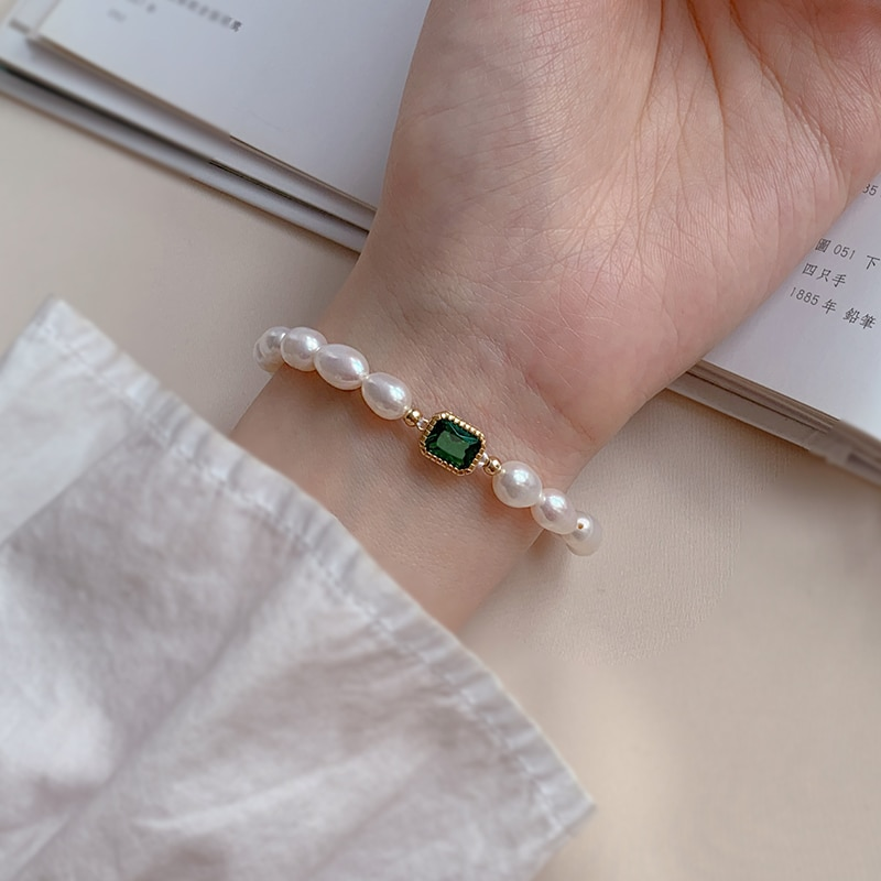Silver 925 Sterling Silver Baroque Pearl Bracelet for Women Light Luxury Minority Exquisite 2020 New