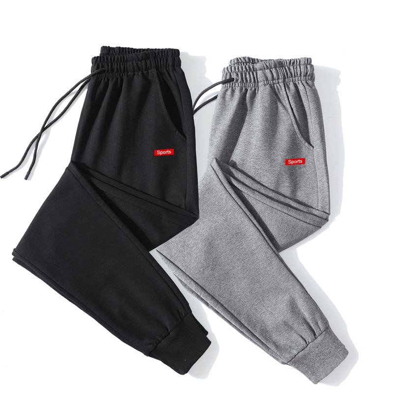New Men's Solid Color Pants Elasticity Sweat-Absorbing Plus Size Casual Straight Loose Pocket Soft Breathable Thin Trousers