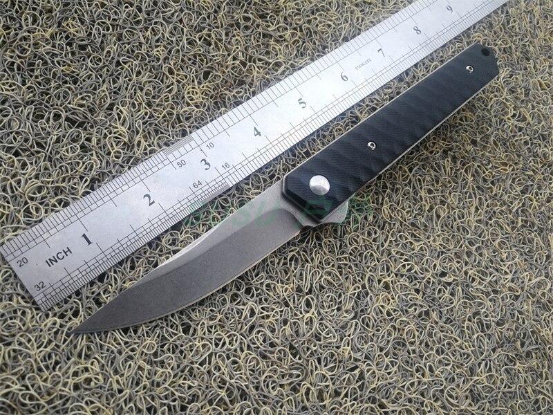 Cuchillo para aire libre plegable GB-2A de alta calidad, cuchilla 8CR14MOV, cuchillo de apertura rápida con mango G10