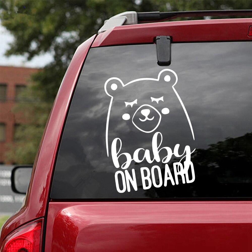 Beauty Baby Bear Carbon Sticker Fun Vinyl Car-Styling Car Sticker Decals Decor