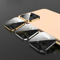 2021 back lens protector case camera lens full cover protective metal ring tempered glass case for iphone12 11 pro xs max xr x