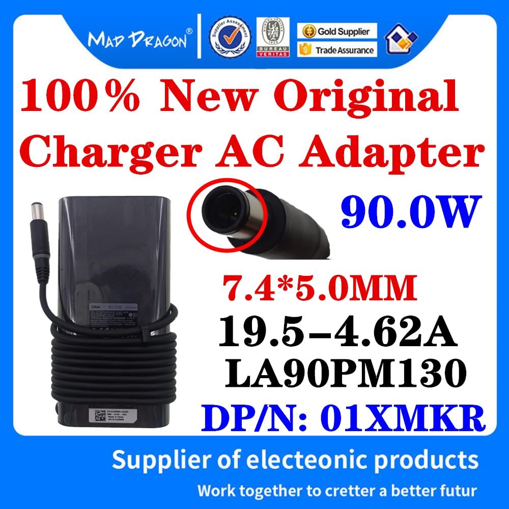 شاحن الطاقة للكمبيوتر المحمول, 01XMKR جديد أصلي لأجهزة الكمبيوتر المحمول Dell Latitude E7240 E7440 E7450 E6440 محول 19.5V 4.62A 90W 7.4*5.0 مللي متر LA90PM130