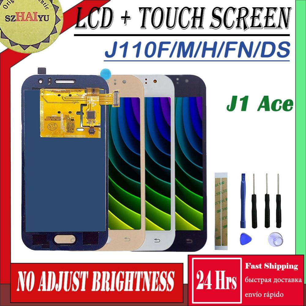 SZHAIYU SM-J110FN/F/M/H/DS para Samsung Galaxy J1 Ace pantalla táctil + pantalla LCD J110 J110H J110FN J110F J110M/DS Panel de pantalla