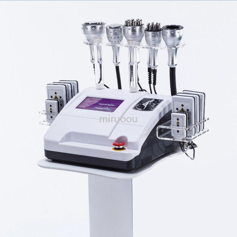 8 in 1 lipolaser 40k cavitation vacuum system ems cellulite massager ice hammer body shaper slimming machine for salon