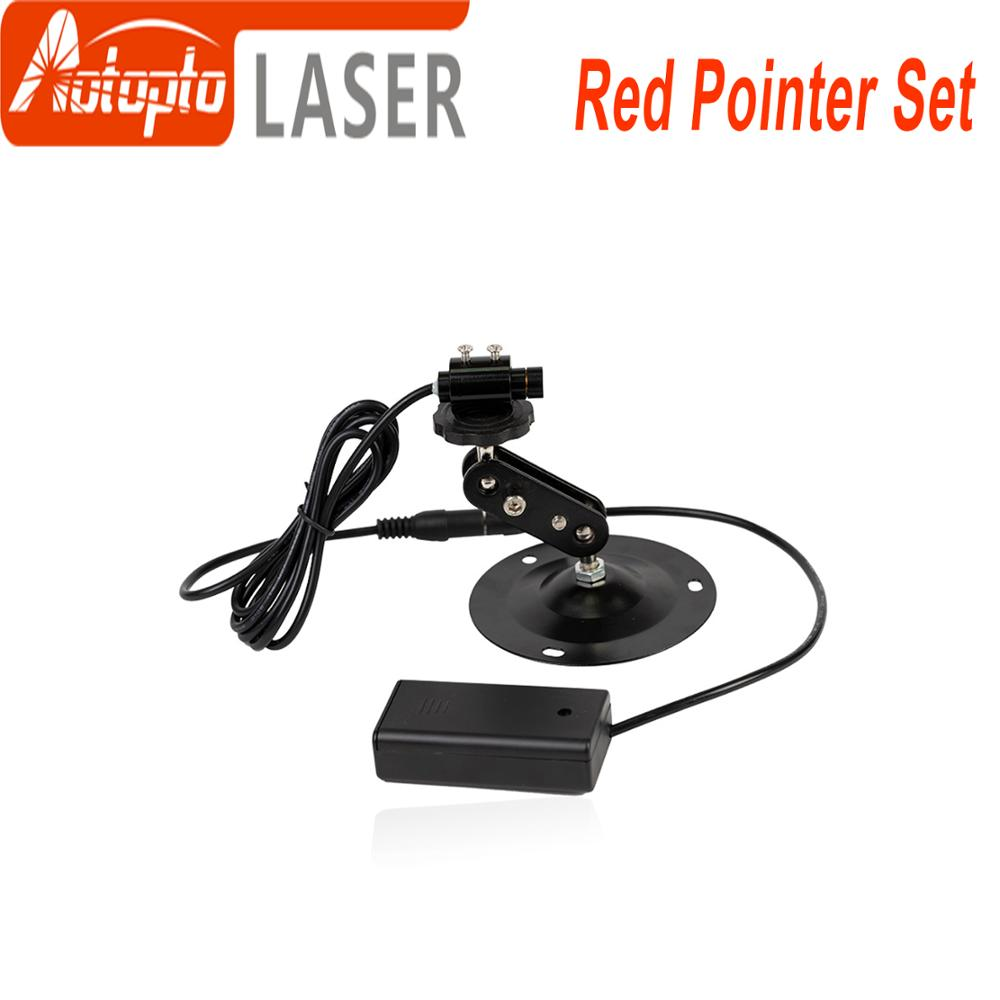 Red Laser Locator Red Dot Beam Marking Positioning Red Focusable Laser Diode Module +Battery Case+mount For marking machine ultra low prices the high quality red red diode laser module dot laser pointer lazer module are on sale good price
