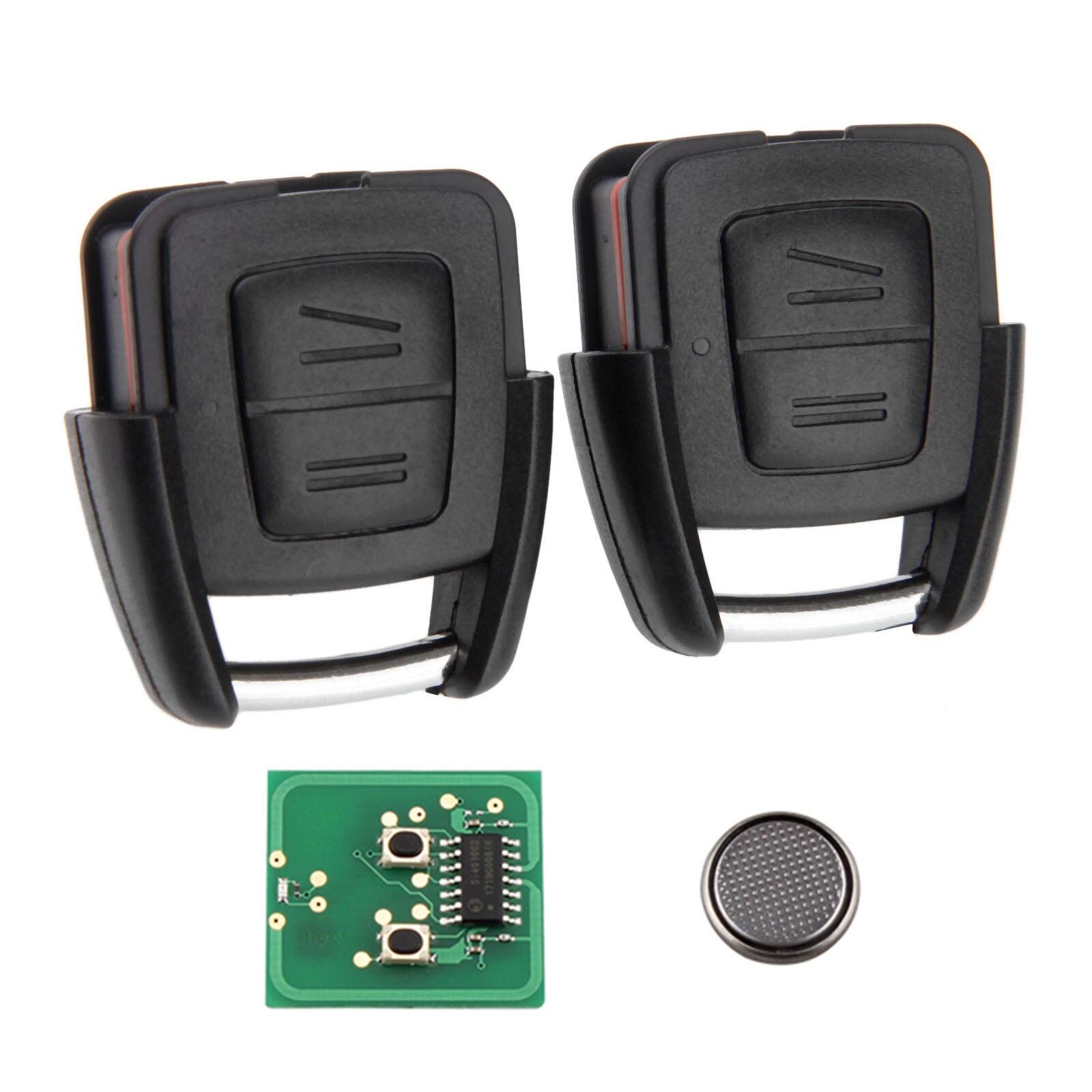 Mando a distancia inteligente para coche Yetaha 2 uds para Vauxhall Opel Astra Zafira Frontera Omega Vectra K24116 433 MHz 2 botones Remtekey