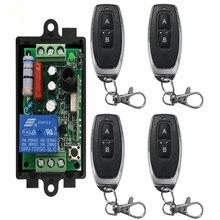 Ac 220 v 1ch 1ch rádio controlador rf relé sem fio interruptor de controle remoto 315 mhz 433 mhz transmissor + receptor
