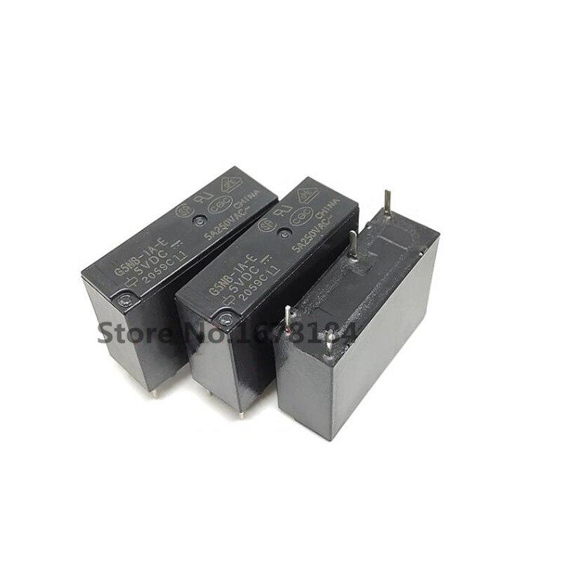 10 pces relé de potência G5NB-1A-E-5VDC G5NB-1A-E-12VDC G5NB-1A-E-24VDC G5NB-1A-E 5v/12v/24vdc 5a 4 pinos um grupo normalmente aberto