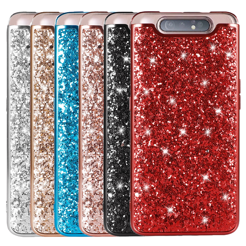 Caso para Samsung Galaxy A80 caso A80 Bling Glitter lentejuelas cubierta para Samsung A10 A20 A30 A40 A50 A60 A70 M10 M20 Nota 8 9 10