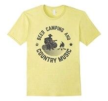 Homme chemise bière Camping et musique de campagne T-Shirt pour campeurs hommes à manches courtes T-Shirt t-shirts streetwear