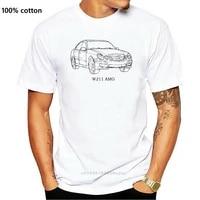 2019 nouveau Style Dete T Shirt Hommes t-shirts Decontracte NOUVEAU W211 E55 E63 voiture ventilateurs Classe E PERSONNALISE plaine T-shirt