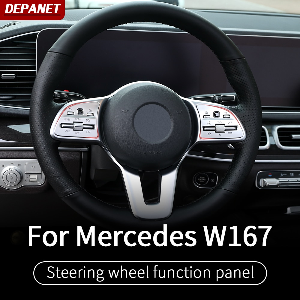 Накладка на руль для Mercedes GLE W167 350 450 500e gls w167 450 500 550x167 аксессуары для украшения интерьера
