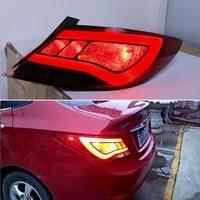 dno car led taillight for hyundai solaris accent 2012 2014 12v rear running lamp brake reverse dynamic turn signal taillamp