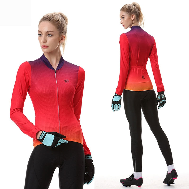 Feiyan, ropa interior gruesa de otoño e invierno para ciclismo, nuevo estilo, ropa interior para ciclismo, conjunto de ropa para ciclismo de verano para mujer