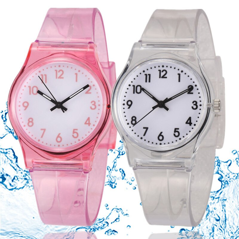 30M Waterproof Children Watch Casual Transparent Watch Jelly Kids Boys Watch Girls Wrist Watches clo