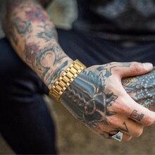 Rolly Bracelet, Rollie Chain Bracelet,Hip Hop Bracelet, Stainless Steel Watch Chain Bracelet, Men Je