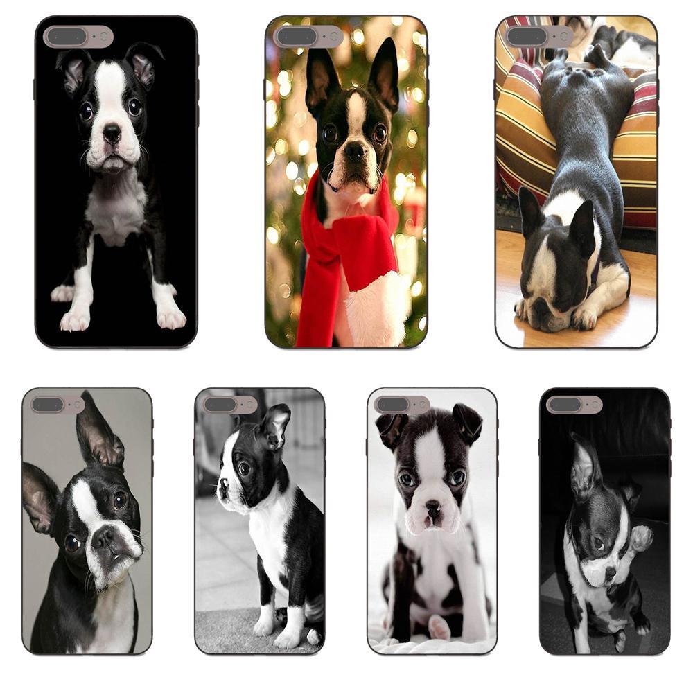 Para Huawei Honor 5A 6A 6C 7A 7C 7X 8A 8C 8X 9 10 P8 P9 P10 P20 P30 Mini Lite Plus suave teléfono celular TPU Boston Terrier