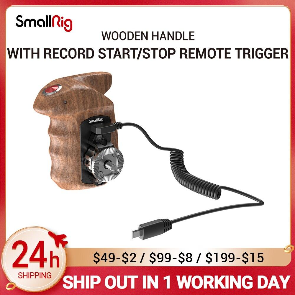 كاميرا صغيرة A6400 قبضة يد خشبية للجانب الأيمن مع مشغل تشغيل/إيقاف عن بعد لكاميرات سوني بدون مرآة HSR2511
