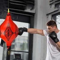 2021 punching ball pu pear boxing bag training reaction speed speed balls muay thai punch boxe fitness sports equipment training