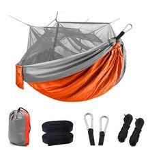 Dossel voar tenda mosquiteiro rede de viagem cama acampamento redes náilon ao ar livre chuva dormir balanço portátil pendurado cadeira caça