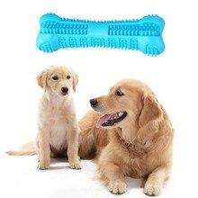 1PC Biss Beständig Dental Care Hund Zahnbürste Stick Hund Kauen Spielzeug Knochen Effektive Zähne Reinigung Blau für Kleine Medium hunde Haustiere