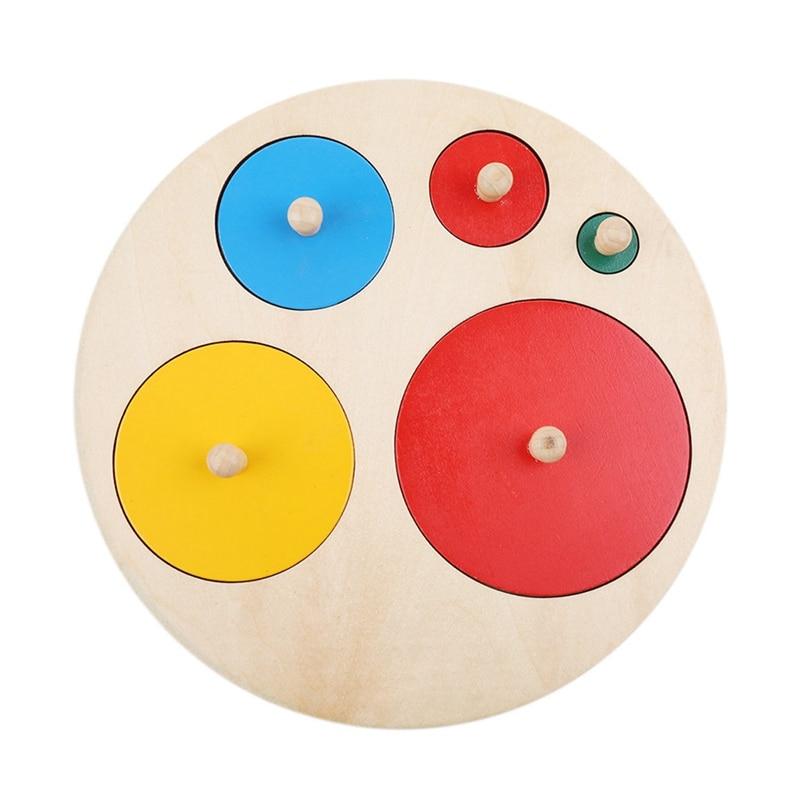 Геометрический пазл, настольная игра, Детский обучающий пазл-штабелер, деревянные игрушки для малышей, детские игрушки, подарок