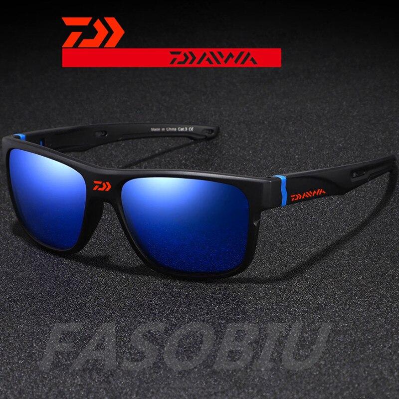 New Daiwa Outdoor Sports UV400 PC Sunglasses Men's Cycling Fishing Polarized Sunglasses Women's Hiking Fishing Glasses 9855#