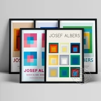 josef albers exhibition museum poster variant geometry abstract art prints canvas painting modern wall picture home decor