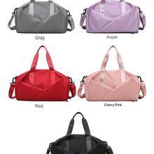 Sports Fitness Bag Women's Dry Wet Separation Shoes Training Yoga Bag Large Capacity Hand Luggage