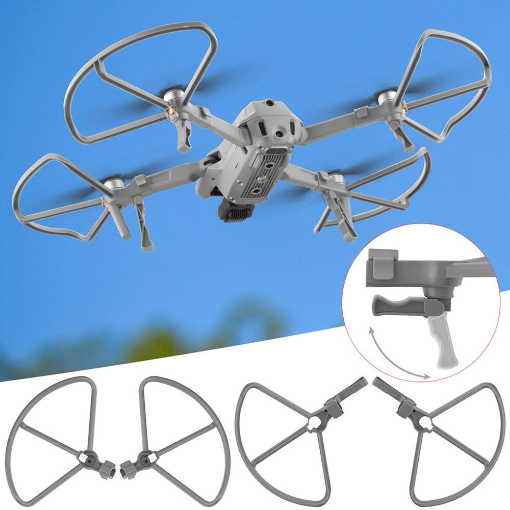 Engranaje de aterrizaje de liberación rápida, patas de extensión, protectores de hélices para Dron DJI Mavic AIR 2, cámara aérea AIR2, marco protector