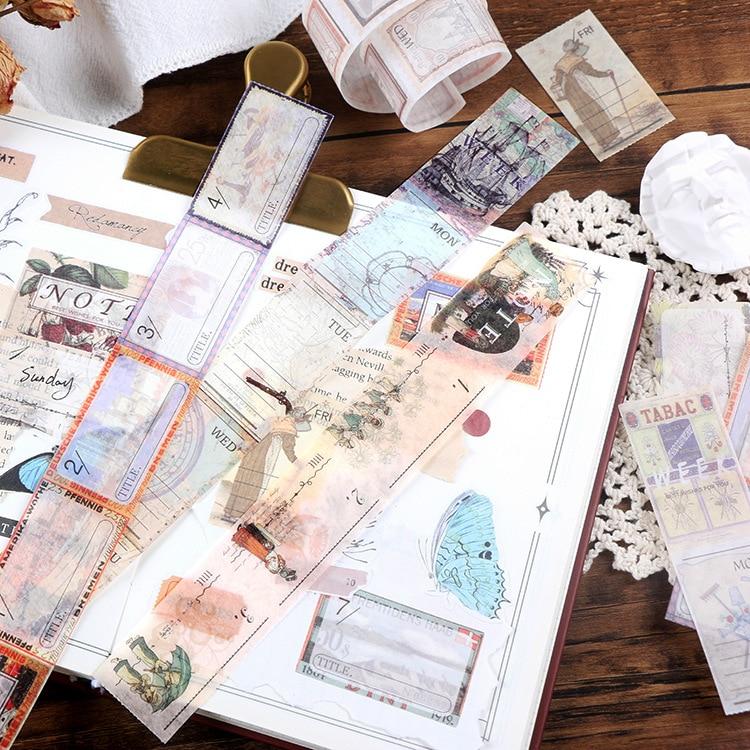 1 set/lote kawaii papelaria adesivos encontrar por acaso diário planejador decorativo móvel adesivos scrapbooking diy artesanato adesivos