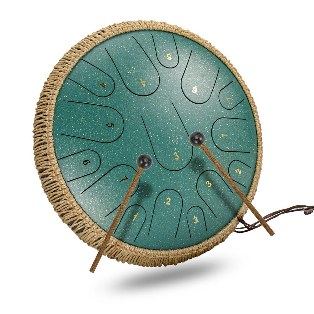 14-inch 15-tone Ethereal Drum Steel Tongue Drum Worry-free Drum Color Empty Forget Worry Drummer Disc Percussion Instrument