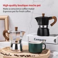 150300ml moka coffee pot espresso latte percolator stove coffee maker espresso pot italian coffee machine stainless steel tools