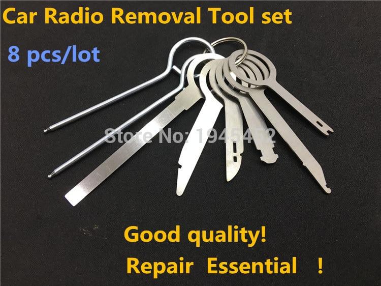 8 Pcs  Radio Removal Tool Keys  for Volkswagen / for Audi, Car DVD CD Host Removal Tool Key, Repair Tool