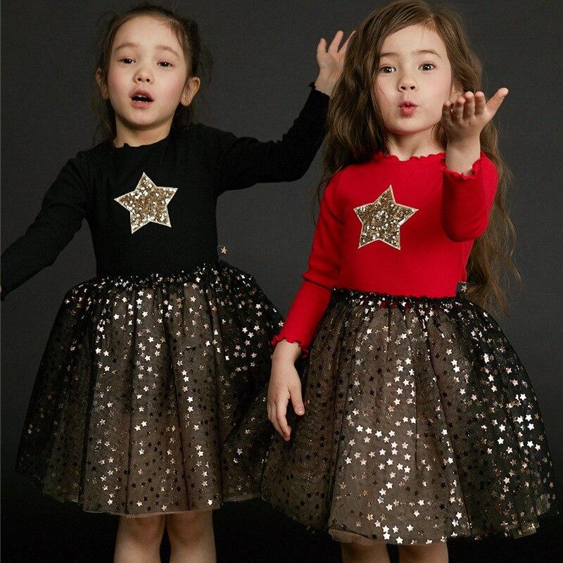 Winter Kids Cotton Dress with Velvet Autumn and Winter Princess Dress Birthday Annual Dress Christmas Dress Vestidos