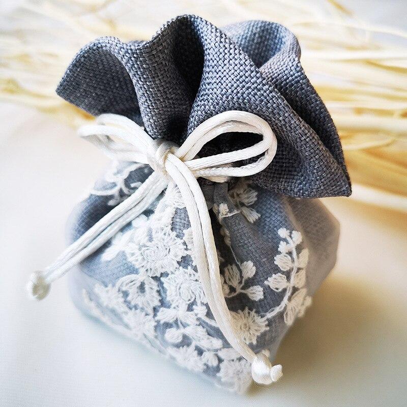 Spot Yarn Bag Embroidery Polyester Custom Cotton Custom Drawstring Bag Gift Packaging Bag