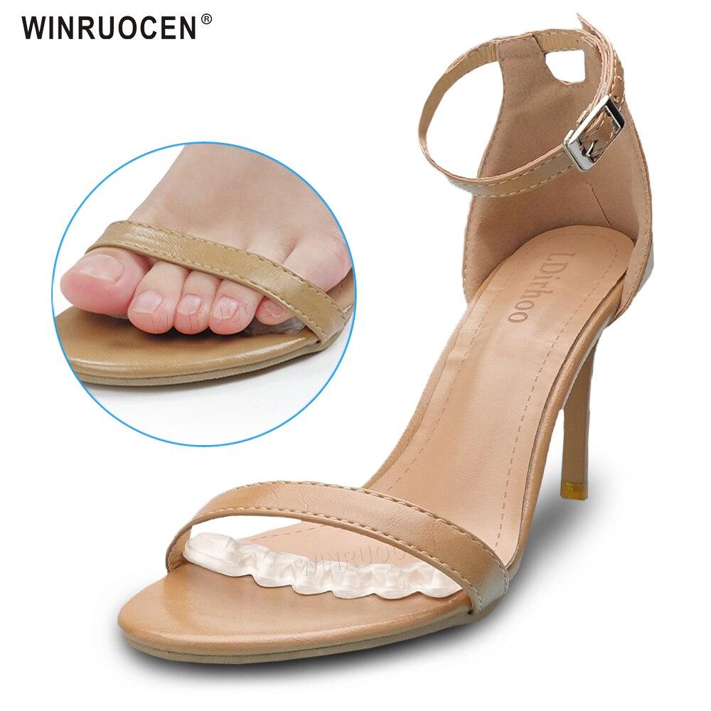 Palmilhas antiderrapantes sapatos sandálias de salto alto palmilha flip flop sandálias de silicone feminino elegante pé remendo gel antepé almofada de cuidados