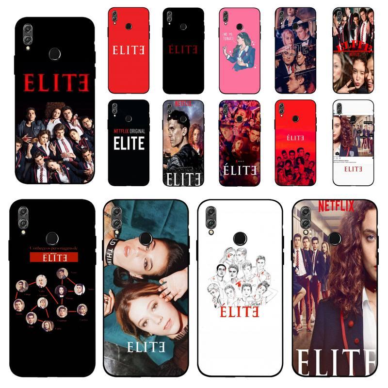LVTLV Español TV serie Elite cubierta negro suave funda del teléfono carcasa para Huawei Honor 8 8x9 10lite 20lite 20 7A 9 9lite funda