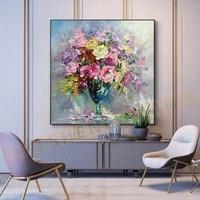 Toile peinte a la main  peintures a lhuile  decor de mariage moderne  couteau fleur  images dart murales  decoration de maison pour salon sur toile