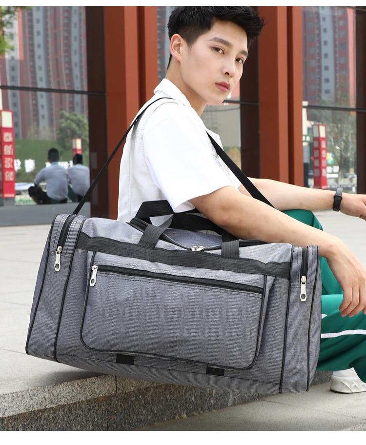 Новинка 2021, очень большая нейлоновая мужская сумка, легкая дешевая мужская дорожная сумка, повседневные мужские дорожные большие сумки, опт...