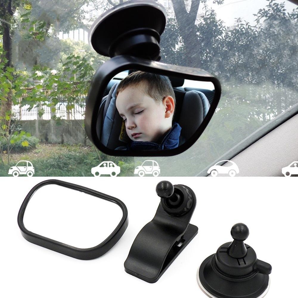 Novo ajustável espelho de carro do bebê assento traseiro espelho de segurança do carro do bebê crianças enfrentando vista traseira da ala infantil criança monitor interior do carro