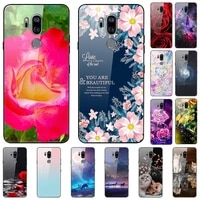 case for lg g7 thinq tempered glass hard phone case luxury coque for lg lm g710 protective bumper shockproof funda coque capa