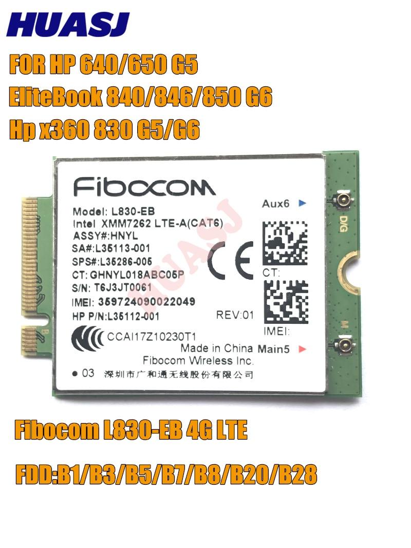 Fibocom L830-EB 4LTE WWAN بطاقة ل HP L35286-005 إنتل XMM 7262 LTE-المتقدمة Cat6 300Mbps ل 640 650 G5 840 846 850 G6 X360 830