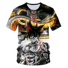 Nouveau 2019 hommes 3D T-shirt Dragon Ball Z Ultra Instinct Goku Super Saiyan dieu bleu végéta imprimé dessin animé été T-shirt taille 6XL