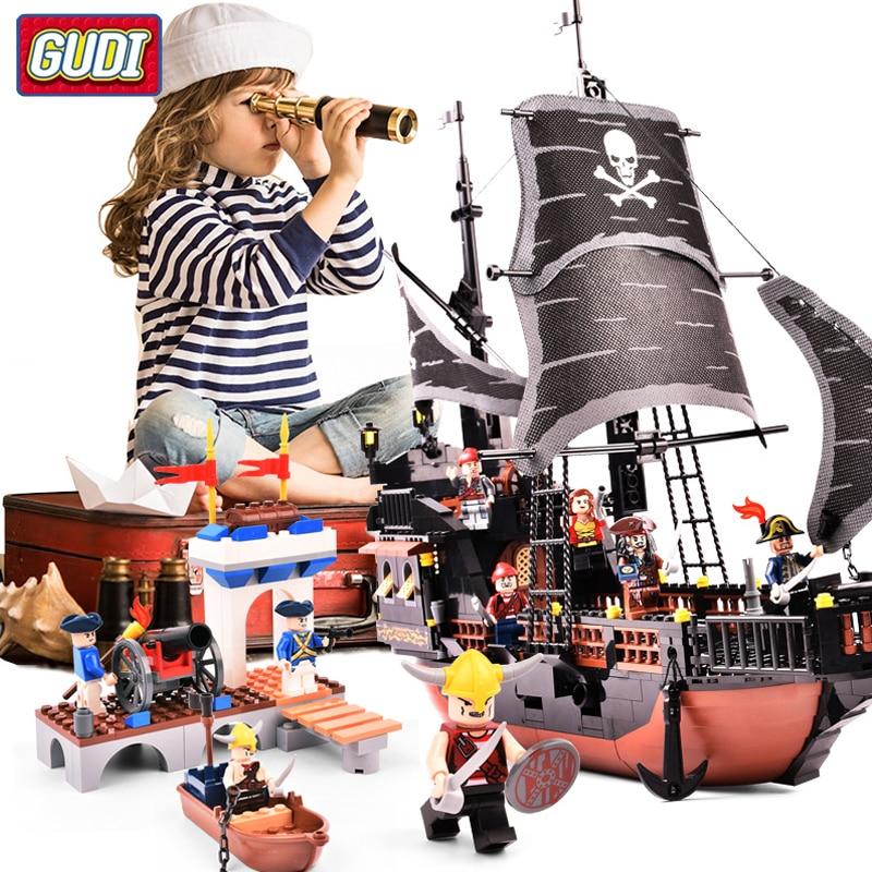 Королевский военный корабль пиратский строительные блоки собранная кукла