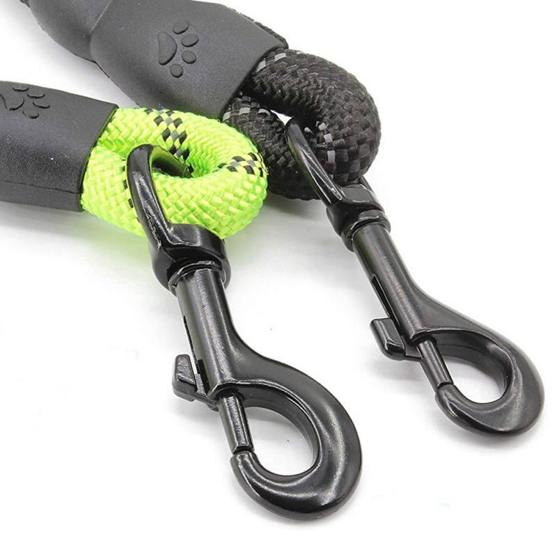 Correas de nailon para perros con cuerda reflectante para correas de perro de tamaño mediano y grande con hebilla productos de plomo duradero fácil de separar