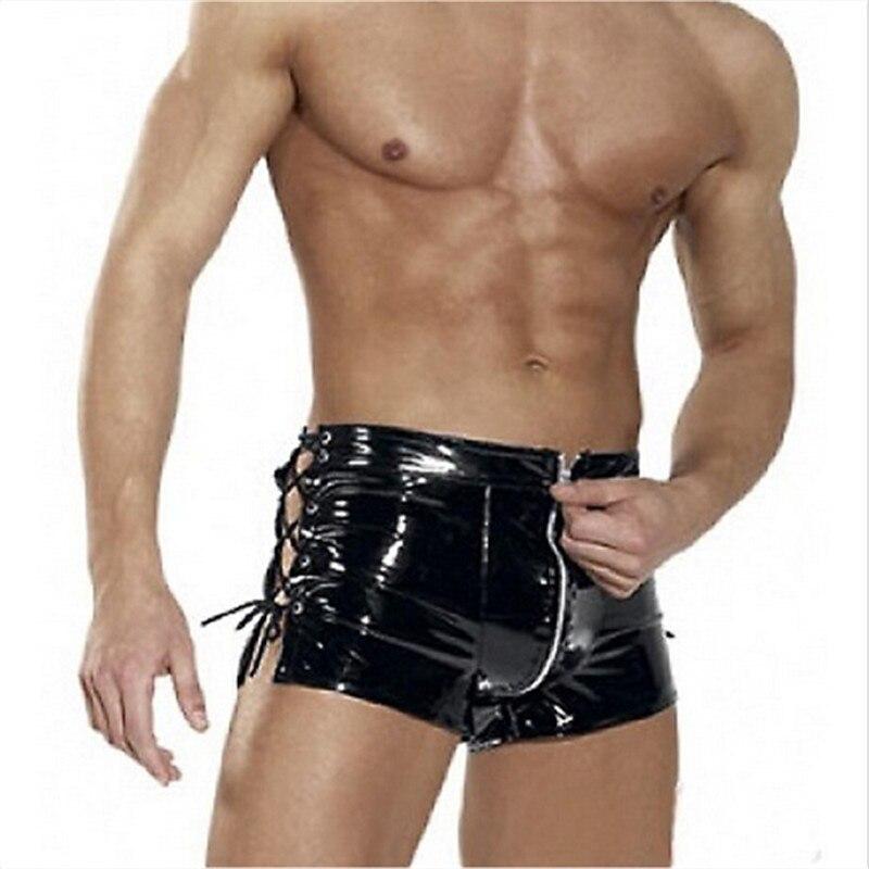 Fetiche De Latex Para Hombres Pantalones Sissy Wetlook Charol Masculino Sexy Pantalones De Entrepierna Abierta Bdsm Gay Lenceria Bondage Para Baile En Barra Leather Bag