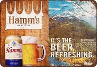 hamms beer and mount rainier vintage look reproduction novelty aluminum metal tin sign post wall decoration for men 8 x 12