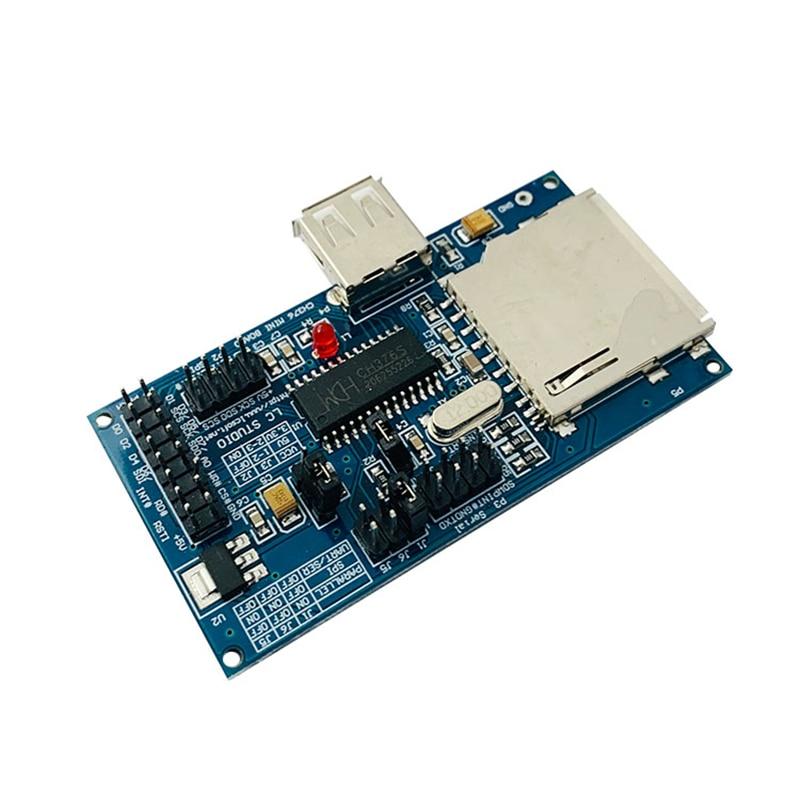 Módulo de teclado CH376S U Disk con tarjeta SD, ratón, compatible con puerto paralelo, puerto Serial, interfaz SPI